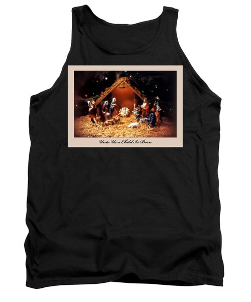 Nativity Scene Greeting Card Tank Top