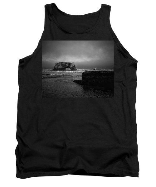 Tank Top featuring the photograph Natural Bridge And The Gull by Lora Lee Chapman