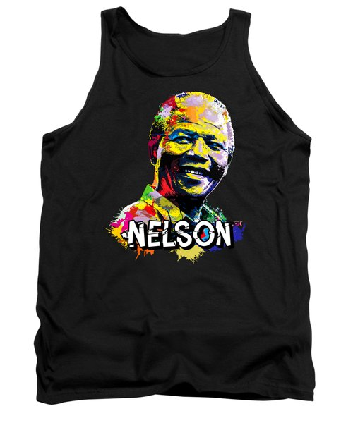 Tank Top featuring the digital art Nelson Mandela Madiba by Anthony Mwangi