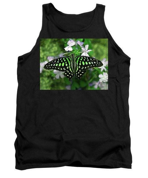 Neon --- Tailed Jay Butterfly Tank Top