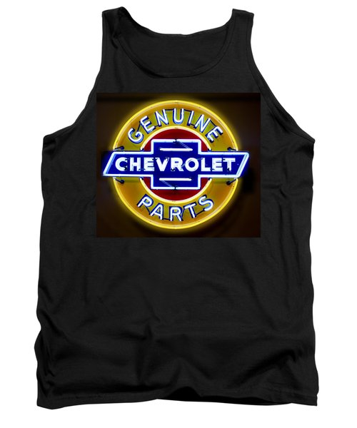 Neon Genuine Chevrolet Parts Sign Tank Top