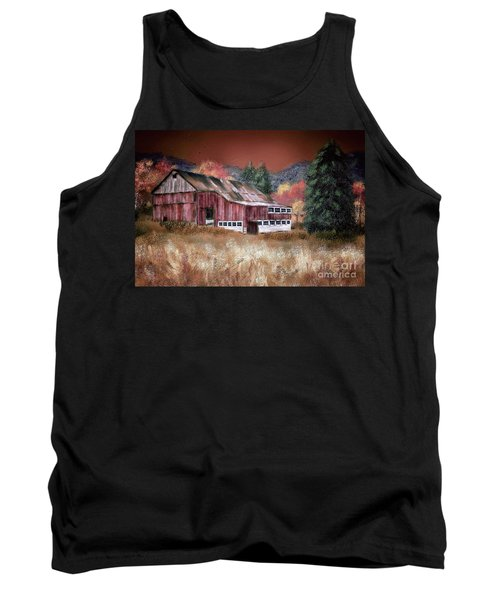 Tank Top featuring the digital art Nestled In The Laurel Highlands by Lois Bryan