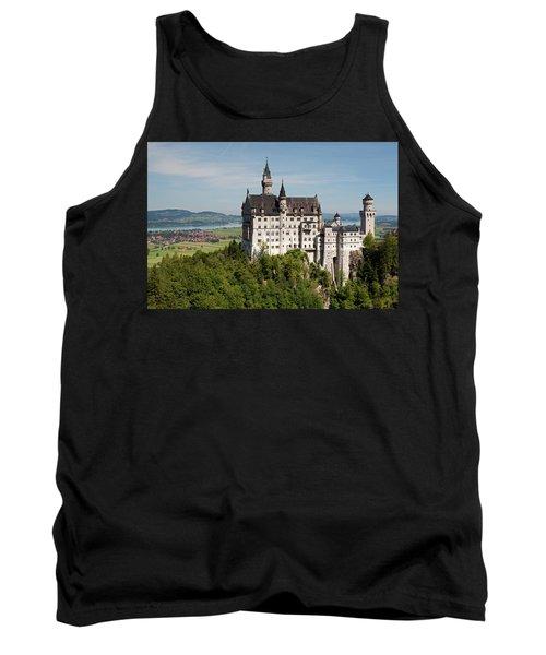 Neuschwanstein Castle With Village Tank Top