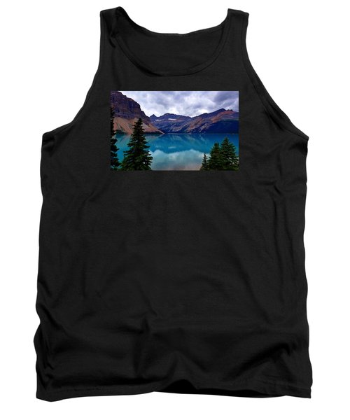 Bow Lake, Banff, Ab  Tank Top by Heather Vopni
