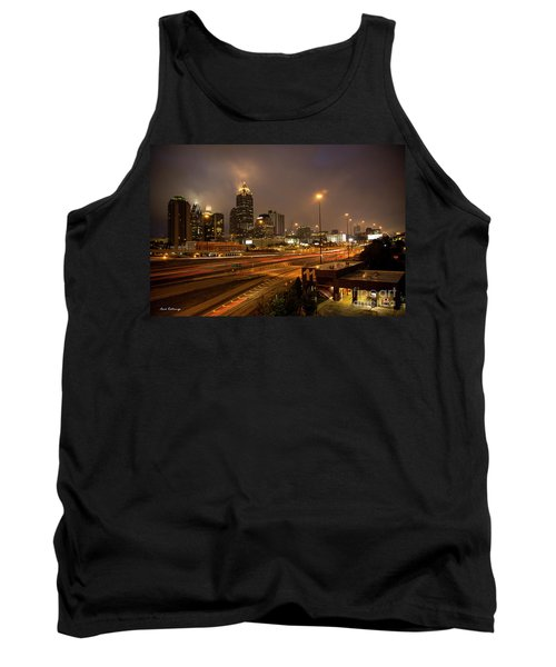 Never Sleeping Atlanta In Motion Midtown Light Trails Art Tank Top