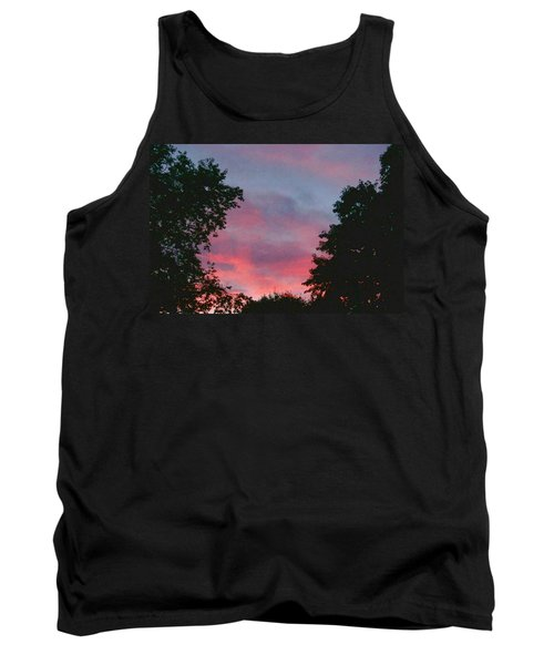Tank Top featuring the digital art New Hampshire Sunset by Barbara S Nickerson