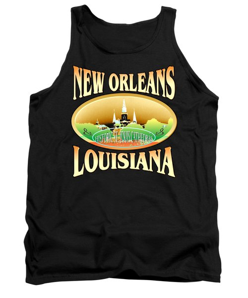 New Orleans Louisiana Tshirt Design Tank Top by Art America Gallery Peter Potter