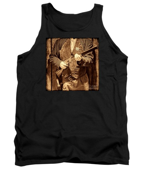 New Sheriff In Town Tank Top by American West Legend By Olivier Le Queinec