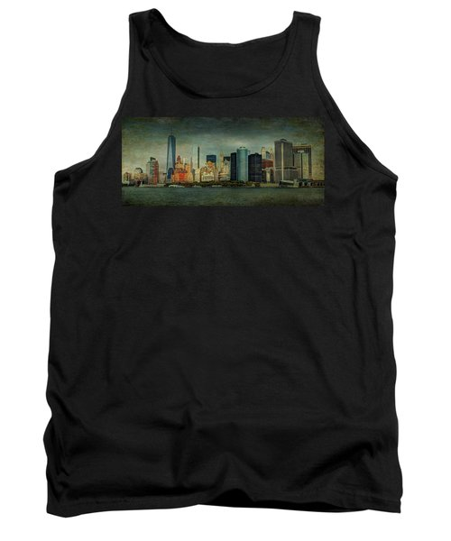 Tank Top featuring the mixed media New York After Storm by Dan Haraga