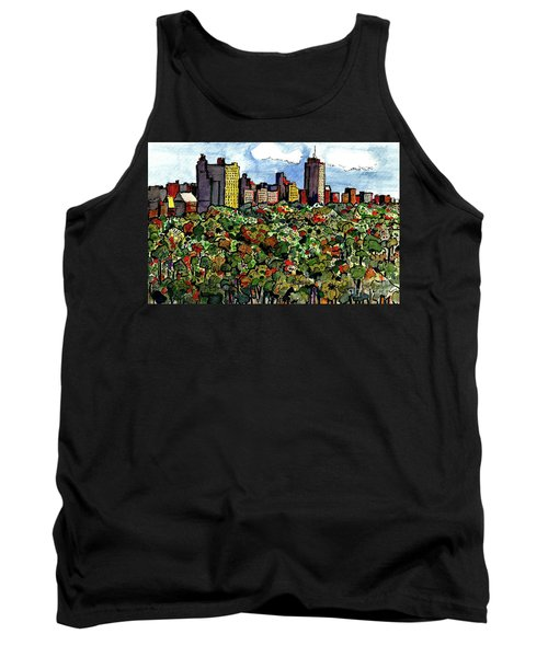 Tank Top featuring the painting New York Central Park by Terry Banderas