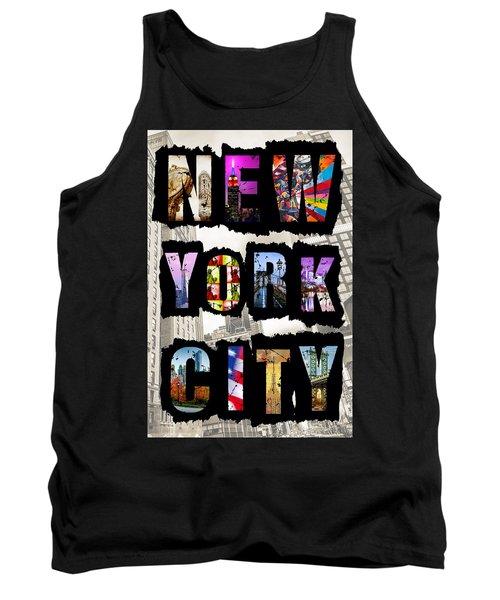 New York City Text Tank Top