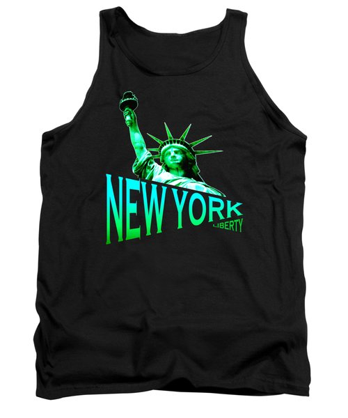 New York Liberty Tshirt Design Tank Top by Art America Gallery Peter Potter