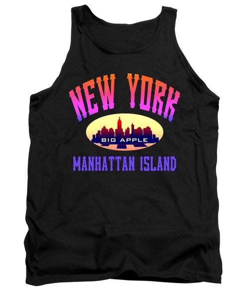 New York Manhattan Island Design Tank Top