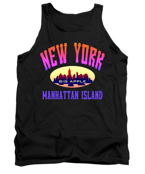 New York Manhattan Island Design Tank Top