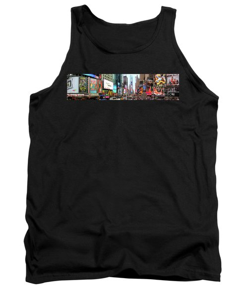 New York Times Square Panorama Tank Top by Kasia Bitner