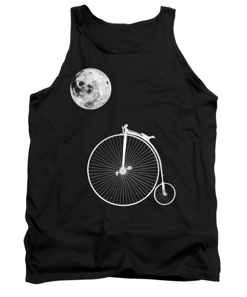 Night Rider - Penny Farthing And Moon Tank Top