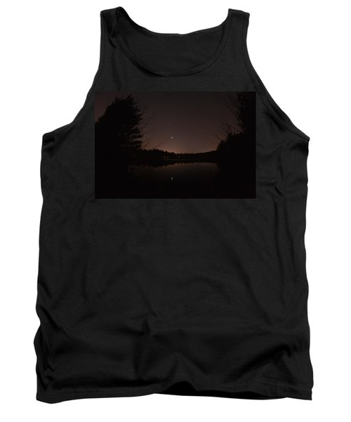 Night Sky Over The Pond Tank Top