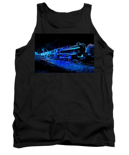 Tank Top featuring the photograph Night Train To Romance by Aaron Berg