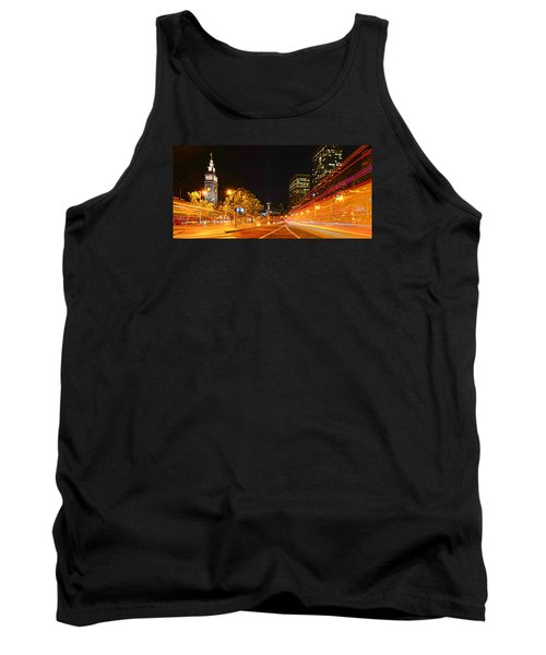 Tank Top featuring the photograph Night Trolley On Time by Steve Siri