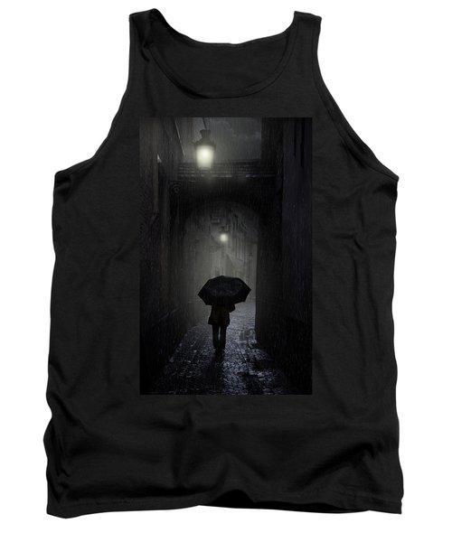Night Walk In The Rain Tank Top