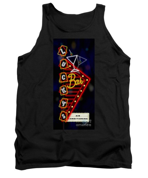Nightclub Sign Luckys Bar Tank Top