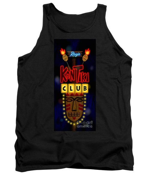 Nightclub Sign Rays Kon Tiki Club Tank Top