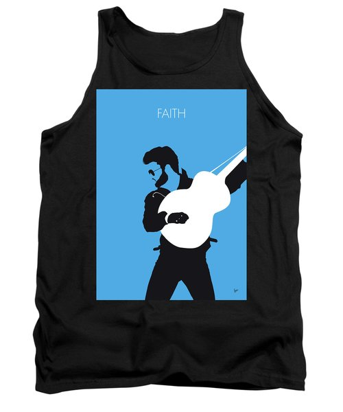No089 My George Michael Minimal Music Poster Tank Top