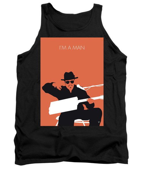 No103 My Bo Diddley Minimal Music Poster Tank Top