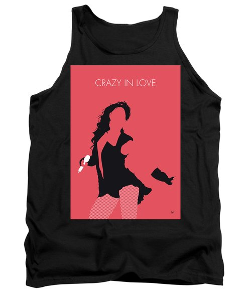 No122 My Beyonce Minimal Music Poster Tank Top