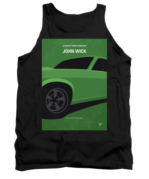 Tank Top featuring the digital art No759 My John Wick Minimal Movie Poster by Chungkong Art