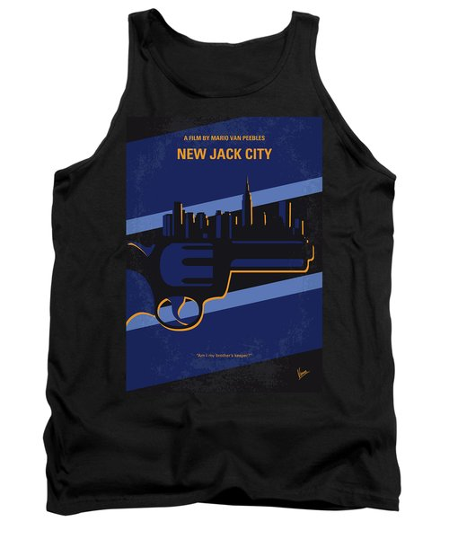 Tank Top featuring the digital art No762 My New Jack City Minimal Movie Poster by Chungkong Art