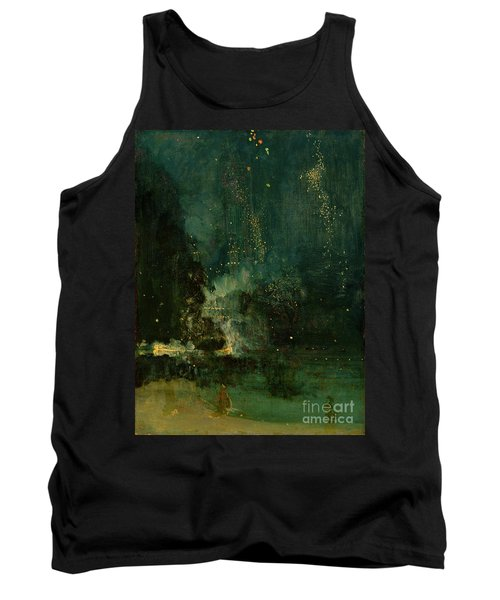 Nocturne In Black And Gold - The Falling Rocket Tank Top