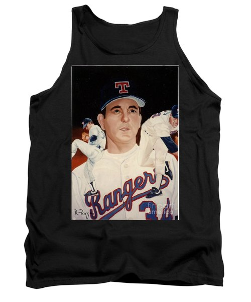 Tank Top featuring the painting Nolan Ryan Medley by Rosario Piazza
