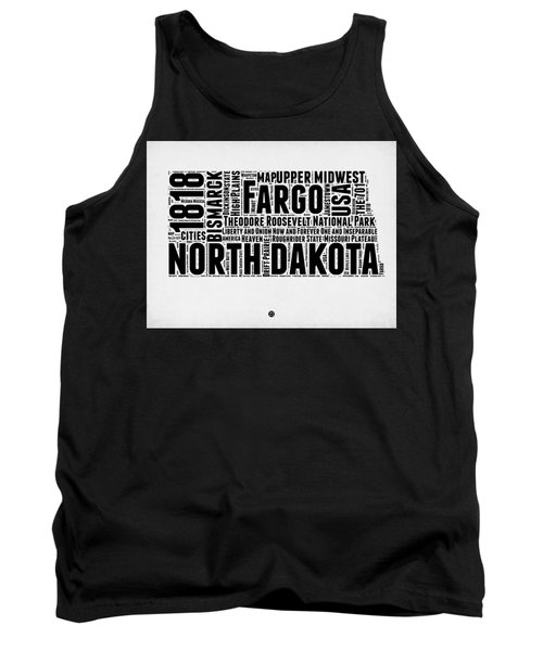 North Dakota Word Cloud 2 Tank Top