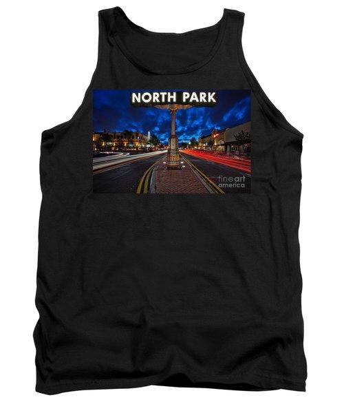 North Park Neon Sign San Diego California Tank Top