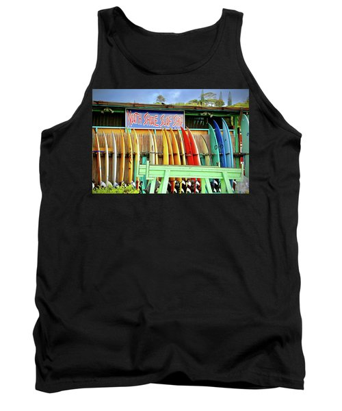 Tank Top featuring the photograph North Shore Surf Shop 1 by Jim Albritton