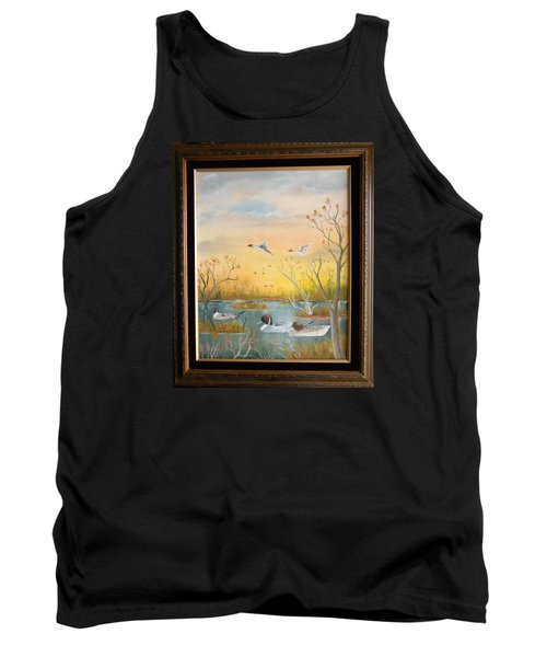 Tank Top featuring the painting Northen Pintails by Al  Johannessen