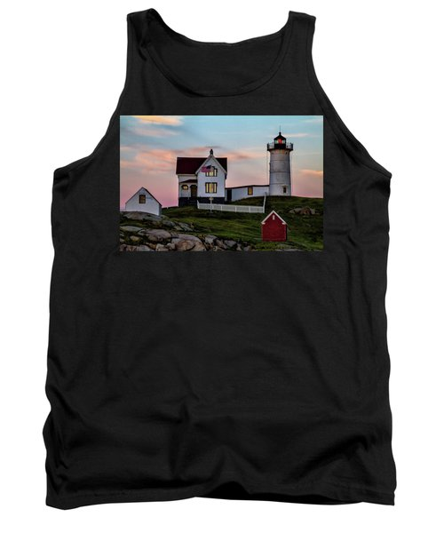 Nubble Lighthouse At Dusk  Tank Top
