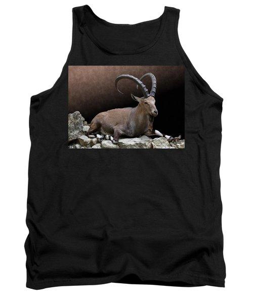 Nubian Ibex Portrait Tank Top