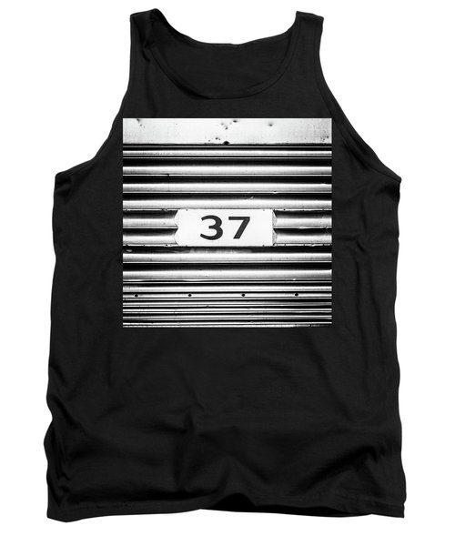 Tank Top featuring the photograph Number 37 Metal Square by Terry DeLuco