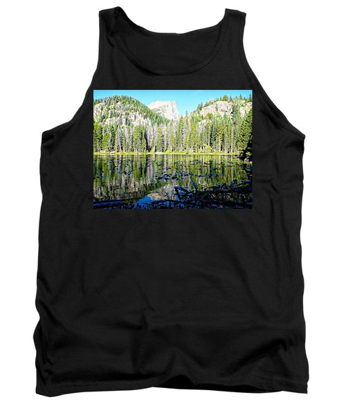 Nymph Lake And Flattop Mountain Tank Top by Joseph Hendrix