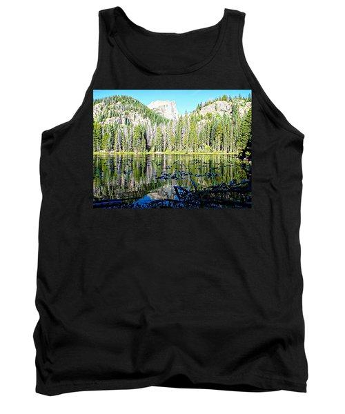 Nymph Lake And Flattop Mountain Tank Top
