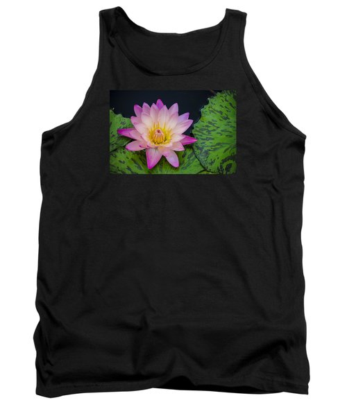 Nymphaea Hot Pink Water Lily Tank Top