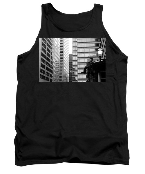 Tank Top featuring the photograph Observing The City by Valentino Visentini