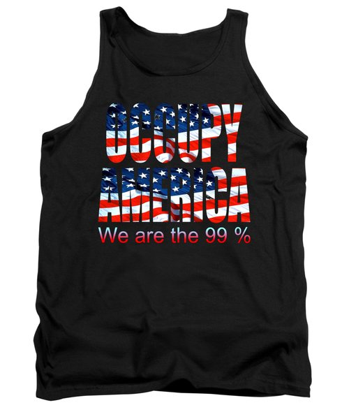 Occupy America 99 Percent - Tshirt Design Tank Top by Art America Gallery Peter Potter