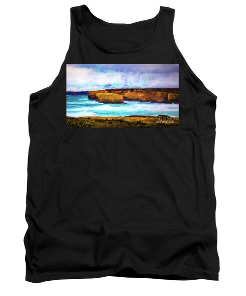 Tank Top featuring the photograph Ocean Cliffs by Perry Webster