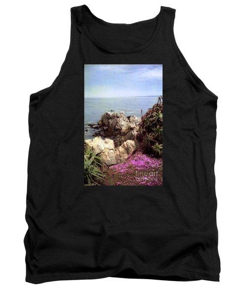 Ocean View Rock And Flowers Tank Top