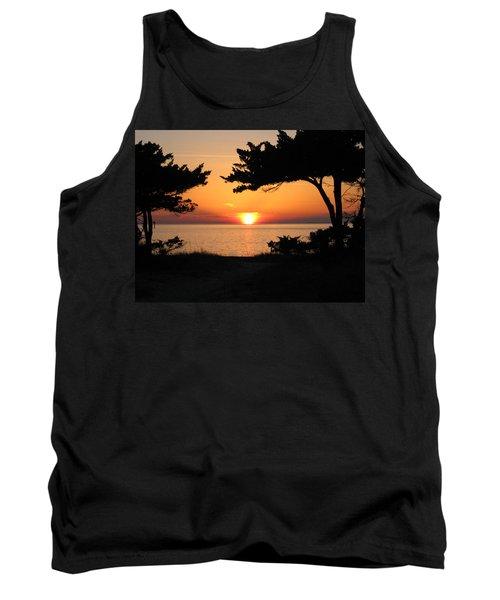 Ocracoke Island Winter Sunset Tank Top