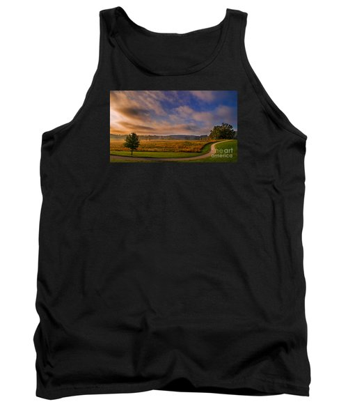 October Morning At Valley Forge Tank Top