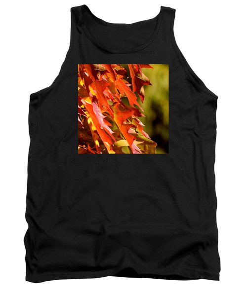 October Oak Leaves Tank Top by Brian Chase